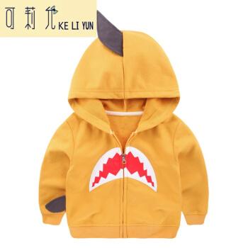 男の子の個性の服装の上着の2019秋は春秋の新型の子供服の子供服の上着の黄色の6-7/122が身長の120を提案します。