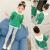 圣笑女童卫衣春秋新款韩版女性长袖カバー头女大童コットン100%ゆるいレインコートの中の大童ピンクの2色の卫衣150 cm
