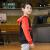 QIAODAN子供服子供服レインコートバイ2019春新型学生Tシャツの中の大子供の子供の秋の運動上着は黒い炎が130 cm赤いです。