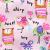 Class ic Teddy赤ちゃん落書きガーディアン秋冬モデル女性子供服子供丸襟カバーヘッドハングダウンwt 7009ピンク130 cm