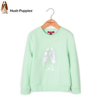 【清倉】Hush Pppiesブランド子供服女性用ガーディアン2019春服新型子供服の上着の中で大子供ファッションが簡単です。捺染ガーディアングリーンミント160 cm