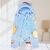 (萌娃新商品)赤ちゃんマント厚い冬ベビー毛布外出新生児プラスダウンバッグ子供風男の子と女の子のチョコレート色のマントにチョコレート色113*100 cmを縛られています。