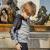 子供服の子供服と子供服の19春夏の新商品の屋外の男の子の弾力性の高い透過性のスポーツウェアのカーディガンQUH 83025深花灰/黒の150