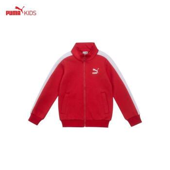 PUMAプーマ子供2018秋の新型KJニットジャケット男の子の定番スポーツウェア長袖ジャケット新鮮な赤85275611 140 cm(140ヤード/おすすめ身長129-147 cm)