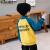 左の西の子供服の男の子の子供服の服の加絨の秋冬の2019新型の洋服の子供の上着の長袖の背の字母の項は保温して冬服の韓国版の黄色の約10-11歳のサイズの150ヤードの身長の150ぐらいを詰めます。