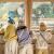 papa爬子供服秋冬子供ハーフタートルネックガーター男女の赤ちゃんのラズル押染服ベビーセーター0-5歳白110 cm