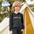BalenoBaleno子供服2020年春新型子供服男性用カラーアルファベット捺染レインコート黒い上着06 E中灰色150 cm