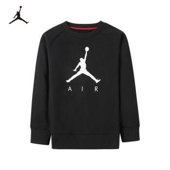 NIKE(Nike Air Jordan)子供服男性用ヘッドガード秋季子供用長袖TシャツベースJD 932123 PS-001正黒120(6)
