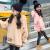 バニーの女の子の服装は秋冬のスタイルは厚い加絨の緩い韓国版のまねる毛皮の中で大きい子供の女の子のファッションの6歳の8歳の12歳の女の子の毛のセーターの上着の赤色の160ヤードは155センチメートルの身長ぐらいを提案します。